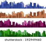 city silhouettes of different... | Shutterstock .eps vector #192949460