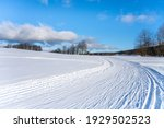 cross country skiing track on... | Shutterstock . vector #1929502523