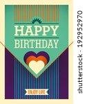 happy birthday card. vector... | Shutterstock .eps vector #192952970