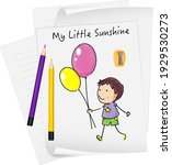 sketch little kids cartoon...   Shutterstock .eps vector #1929530273