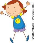cute girl cartoon character in...   Shutterstock .eps vector #1929530483