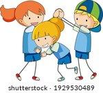 doodle of kids cartoon...   Shutterstock .eps vector #1929530489