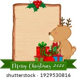 blank wooden board with merry...   Shutterstock .eps vector #1929530816