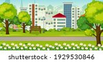 park outdoor scene with many...   Shutterstock .eps vector #1929530846