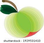 an apple made of geometric...   Shutterstock .eps vector #1929531410
