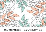 nature flowers and leaves... | Shutterstock .eps vector #1929539483
