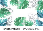 nature flowers and leaves... | Shutterstock .eps vector #1929539543