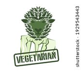 text of vegettarian with lamb... | Shutterstock .eps vector #1929543443