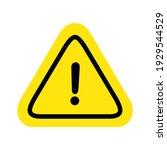caution warning sign sticker... | Shutterstock .eps vector #1929544529