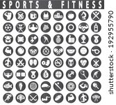fitness and sports icons | Shutterstock .eps vector #192955790