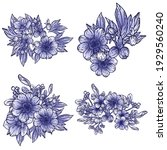 flowers set. collection of... | Shutterstock .eps vector #1929560240