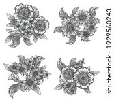 flowers set. collection of... | Shutterstock .eps vector #1929560243
