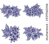 flowers set. collection of... | Shutterstock .eps vector #1929560246