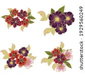 flowers set. collection of... | Shutterstock .eps vector #1929560249