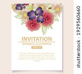 invitation greeting card with... | Shutterstock .eps vector #1929560660