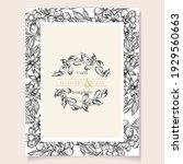 invitation greeting card with... | Shutterstock .eps vector #1929560663
