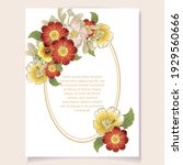 invitation greeting card with... | Shutterstock .eps vector #1929560666