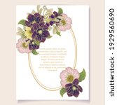 invitation greeting card with... | Shutterstock .eps vector #1929560690