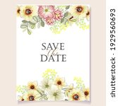invitation greeting card with... | Shutterstock .eps vector #1929560693