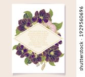 invitation greeting card with... | Shutterstock .eps vector #1929560696