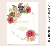 invitation greeting card with... | Shutterstock .eps vector #1929560699