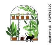 nature pattern  greenhouse ... | Shutterstock .eps vector #1929565820