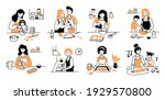hand drawn set of cooking... | Shutterstock .eps vector #1929570800