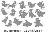 cute ghost costume. halloween... | Shutterstock .eps vector #1929572669