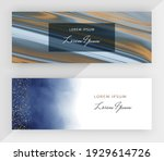 blue alcohol ink with gold...   Shutterstock .eps vector #1929614726