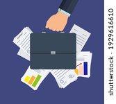 businessman's hand holds a... | Shutterstock .eps vector #1929616610
