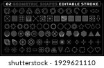 set of linear geometric shape... | Shutterstock .eps vector #1929621110