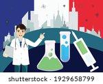 covid 19 vaccine on france ... | Shutterstock .eps vector #1929658799