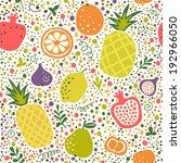 tasty fruit pattern for your... | Shutterstock .eps vector #192966050