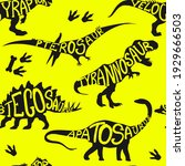 seamless  dino pattern  print... | Shutterstock .eps vector #1929666503