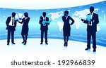 business team leader with... | Shutterstock .eps vector #192966839
