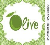 olive vector illustration | Shutterstock .eps vector #192968000