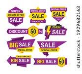 sale tag design badge set.... | Shutterstock .eps vector #1929682163