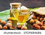 Hazelnut Oil In A Glass Jar And ...