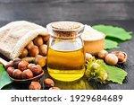 Hazelnut Oil In Glass Jar ...