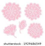 set of stylized rose flowers | Shutterstock .eps vector #1929686549
