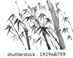 ink painting of bamboo   | Shutterstock . vector #192968759