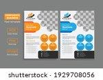corporate flyer design template ... | Shutterstock .eps vector #1929708056