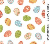 seamless pattern with various...   Shutterstock .eps vector #1929714059
