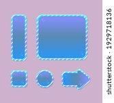 game ui buttons set  blue...