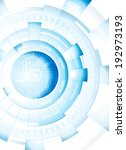 abstract technology blue white ... | Shutterstock . vector #192973193