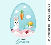 happy easter greeting card with ...   Shutterstock .eps vector #1929738716
