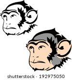 monkey tattoos. vector | Shutterstock .eps vector #192975050