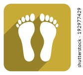 foot flat icon | Shutterstock . vector #192977429