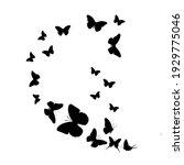 flock of silhouette black... | Shutterstock .eps vector #1929775046