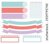 cute paper notes in sweet color ... | Shutterstock .eps vector #1929795740